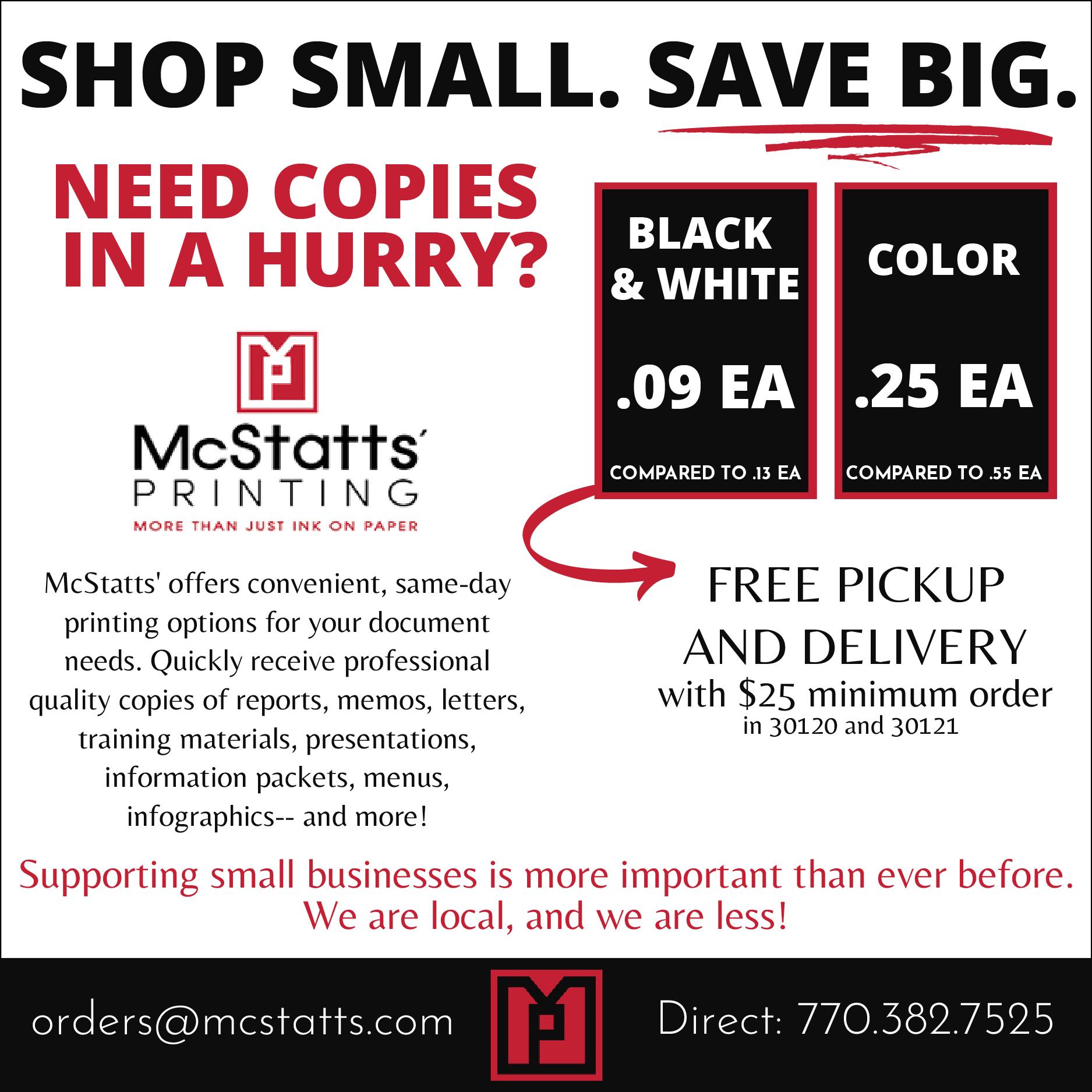 Shop Small - Save Big